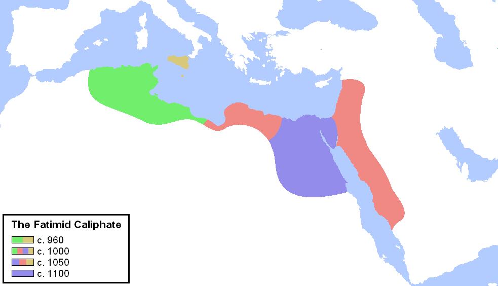 Халифат Фатимидов. Источник: wikipedia.org
